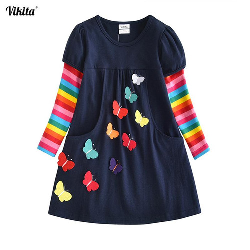 VIKITA Kids Girls Dress Baby Children Toddler Princess Dress Vestidos Children's Clothing Girls Winter Dresses 2-8Y LH5805 MIX - Joelinks store