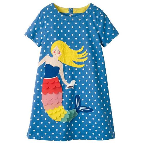 Girls Dress Brand Kids Girl Clothes With Dots Pattern New Design Summer Children Clothing Princess Dresses Vestidos 1-10Years - Joelinks store