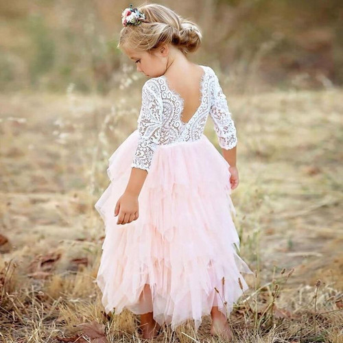 Vestidos Girls Summer Dress 2019 Brand Backless Teenage Party Unicorn Princess Dress Children Costume for Kids Clothes Pink 2-6T - Joelinks store