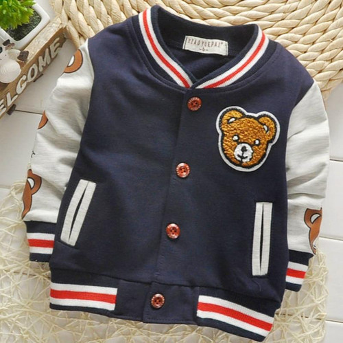 Edition  Spring And Autumn Cardiga Button Sweater Jacket Sportswear Cartoon Cotton Long Sleeved Children's Boy's Fashion Coat. - Joelinks store