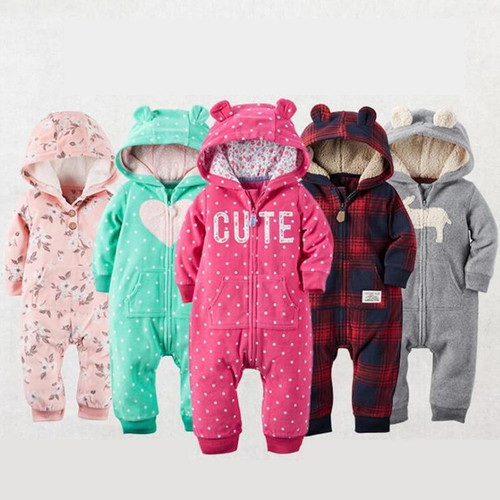 2019 Autumn Winter Warm Baby Rompers Baby boys clothes Coral Fleece baby girls costume Animal Overall baby clothing jumpsuits - Joelinks store