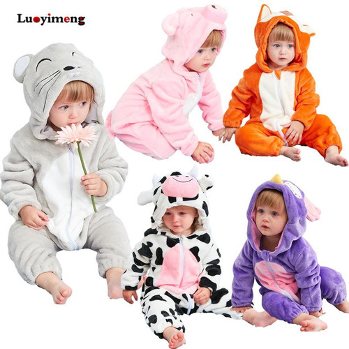 Cute Animal Hooded Baby Rompers For Babies Boys Girls Clothes Newborn Clothing Toddler Jumpsuit Infant Costume Baby Outfit Bebes - Joelinks store