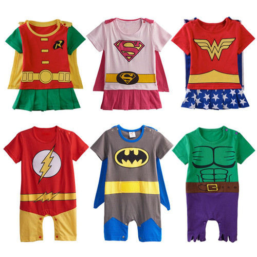 Baby Boys Girls Superhero Costume Romper Infant Cosplay Funny Jumpsuit Playsuit Toddler Carnival Party Fancy Dressing Up Cos - Joelinks store