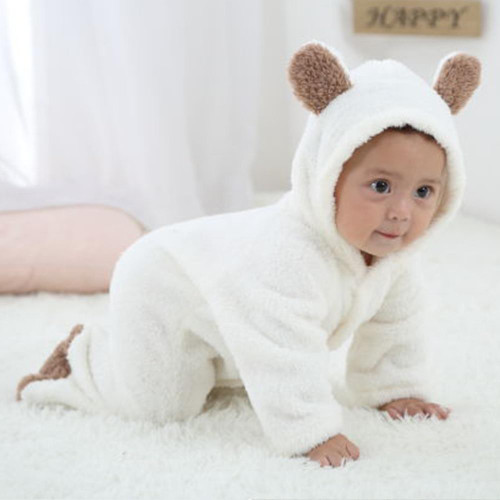 Baby Girl Rompers Warm FleeceToddler Boys Jumpsuits Long Sleeve Newborn Infant Cartoon Onesie Outfits Costume Baby Winter Romper - Joelinks store