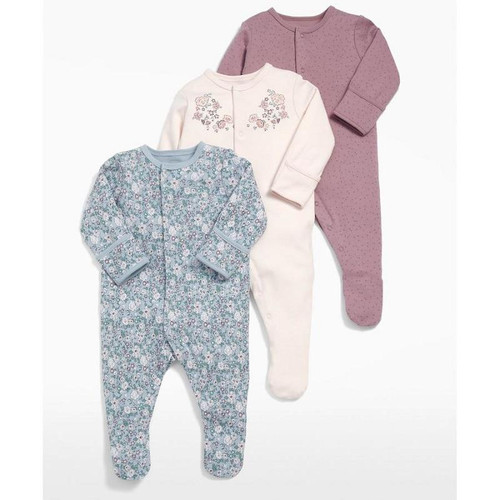 Baby Girl Romper 3pcs Newborn Sleepsuit Flower Baby Rompers 2019 Infant Baby Clothes Long Sleeve Newborn Jumpsuits Baby Pajamas - Joelinks store