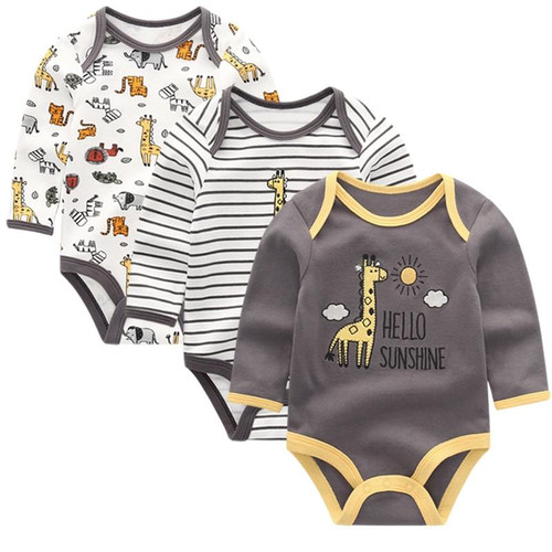 Baby Clothing 2019 Newborn jumpsuits Baby Boy Girl Romper Long Sleeve Infant Clothes O-neck Product - Joelinks store