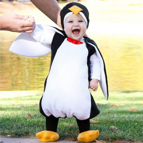 Baby Boys Girls Carnival Halloween Costume Romper Kids Clothes Set Toddler Cosplay penguin Jumpsuits Infant Clothes - Joelinks store