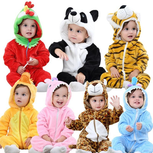 2019 Infant Romper Baby Boys Girls Jumpsuit New born Bebe Clothing Hooded Toddler Baby Clothes Cute Panda Romper Baby Costumes - Joelinks store