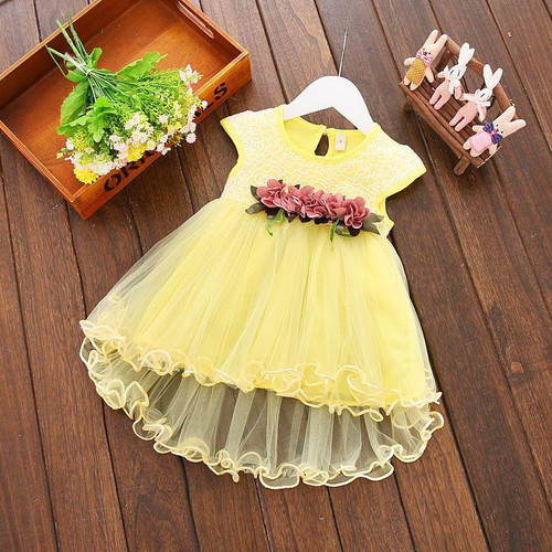 Infant Kids Baby Girl clothes Summer Floral print Geometry round neck sleeveless cotton casual Princess Party Dresses one pieces - Joelinks store