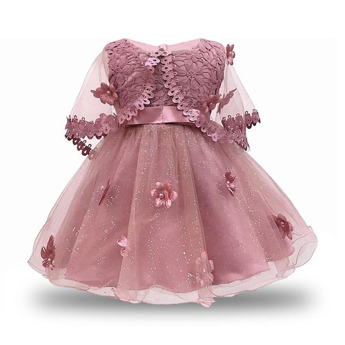 Baby Girl Dress 2019 Vintage Party Dresses for Girls 1st Year Birthday Party Princess dress 0-6yrs Baby Clothing Costume - Joelinks store