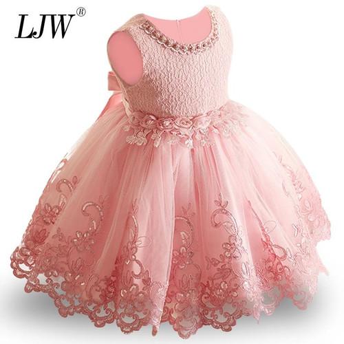 2019 New Lace Baby Girl Dress 9M-24M 1 Years Baby Girls Birthday Dresses Vestido birthday party princess dress - Joelinks store