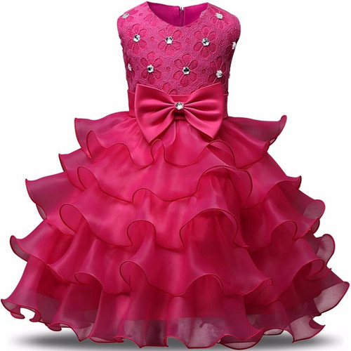 Infant Flower Girl Dress Ball gowns layered Dresses For Girl Party Princess Girl Clothes For 1 to 2 Years Birthday Baptism Dress - Joelinks store