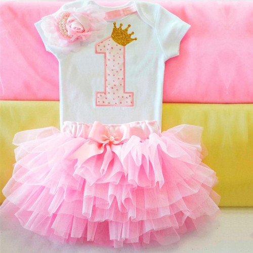 First 1 Year Baby Girl Birthday Party Dress Comfy Outfits Baby Photo Shoot Tutu Cake Outfits Infant Summer Clothes For Girls - Joelinks store