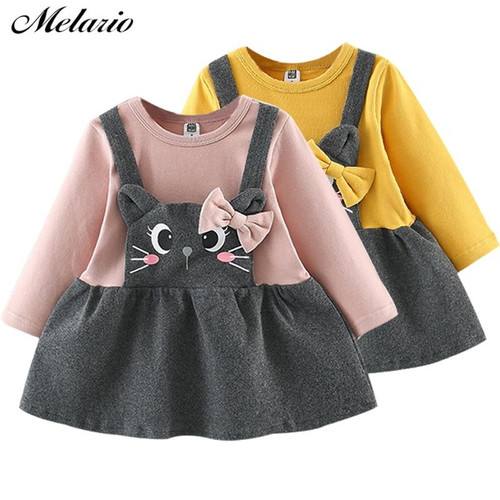 Melario Baby Dress 2019 Autumn Winter Baby Girls clothes Long Sleeve Princess Girls Dress Kids Clothes Children princess dresses - Joelinks store