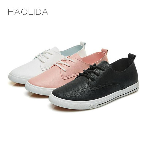 2019 Spring Loafers Summer New Leather  Casual Leather Shoes For Women Flat Shoes White Ladies - Joelinks store