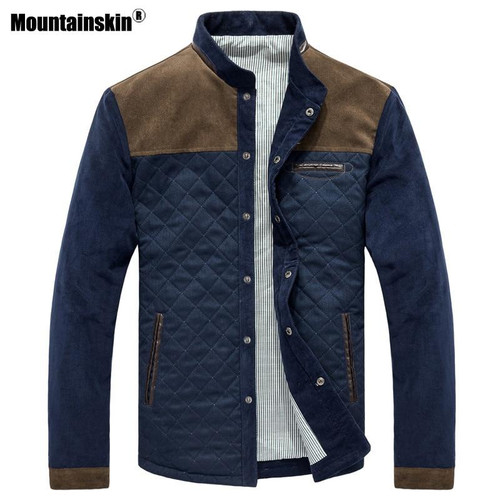 Mountainskin Spring Autumn Men's Jacket Baseball Uniform Slim Casual Coat Mens Brand Clothing Fashion Coats Male Outerwear SA507 - Joelinks store