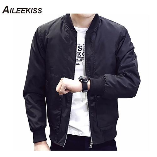 2019 Spring Autumn Casual Solid Fashion Slim Bomber Jacket Men Overcoat Baseball Jackets Men's streetwear Jacket 4xl Top XT380 - Joelinks store