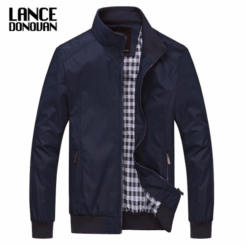 Solid color New 2019 Casual Jacket M-5XL 6XL Men Spring Autumn Outerwear Mandarin Collar Clothing - Joelinks store