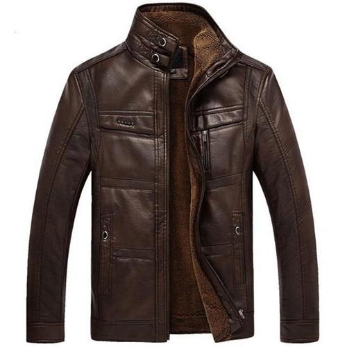 Leather Jacket Men Coats 3XL Brand High Quality PU Outerwear Men Business Winter Faux Fur Male Jacket Fleece Dropshipping - Joelinks store