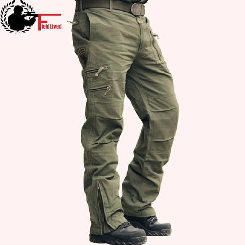 Tactical Pants Male Camo Jogger Casual Men's Cargo Pants Cotton Trousers Multi Pocket Military Style Army Camouflage Black urban - Joelinks store