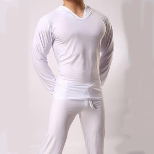 Satin sleepwear for men Casual Silk Pajamas Top Comfortable Sleepwear Pyjamas Top Loungewear Sexy Nightwear Fits All Seasons - Joelinks store