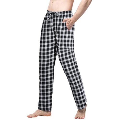 Mens Plaid Sleep Bottoms Pajama Pants 2 Pieces 2019 Summer Casual Male Simple Comfort Sleepwear Pants Loose Trousers - Joelinks store