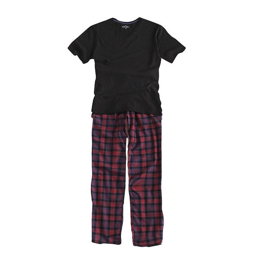 100% Cotton New 2018 Summer Pajama Sets Plaid Pijama Short Sleeve Men Pajamas V-Neck Men's Sleepwear Men Pyjamas Plus Size S-XXL - Joelinks store