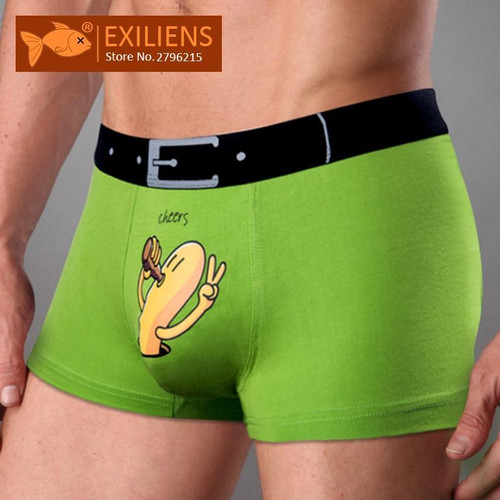 EXILIENS Brand New Mens Underwear Boxer Modal Homme Boxershorts Men Boxers Sexy Male Underpants Print Cartoon Size M-3XL 093001 - Joelinks store