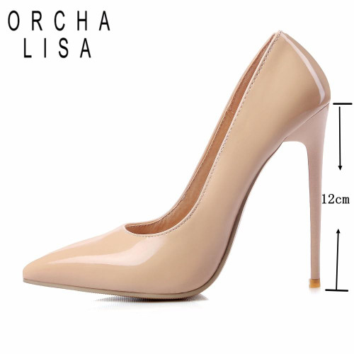 ORCHA LISA 12cm Shallow Thin High Heels Pumps Dress Party Office Lady's Pumps Pointed Toe Summer Women Shoes Stilettos Mujer - Joelinks store