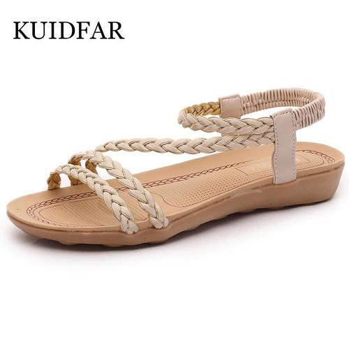 KUIDFAR Women Sandals Plus Size 36-42 Summer women shoes woman Flip Flops Ladies Flat Sandals chaussure Sandalias - Joelinks store