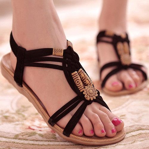 Women Shoes Sandals Comfort Sandals Summer Flip Flops  Fashion High Quality Flat Sandals Gladiator Sandalias Mujer White - Joelinks store