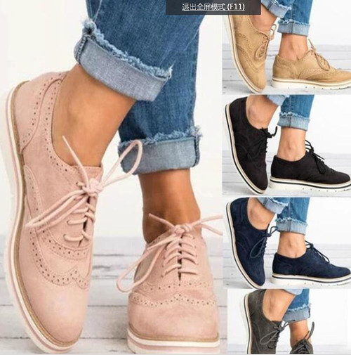 2018 New Rubber Brogue Shoes Woman Platform Oxfords British Style Creepers Cut-Outs Flat Casual Women Shoes 5 Colors for Girls - Joelinks store