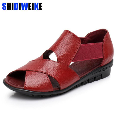 Summer Gladiator Rome Casual Sandals Women Shoes Sandalia Feminina Genuine Leather Wedge Heel Comfort Sandals m936 - Joelinks store