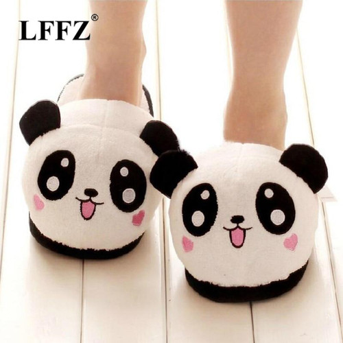 Women Winter Home Slippers Cartoon Cat Non-Slip Warm Indoors Bedroom Floor Shoes Plush Slippers Women Faux Fur Slides Flip Flops,Red,40,United States