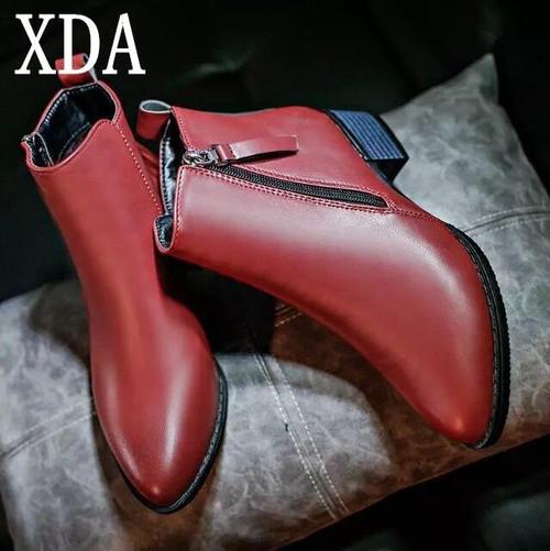 New Autumn Winter Women shoes Female Side zipper pointed toe Boots Women Ankle boots Vintage - Joelinks store