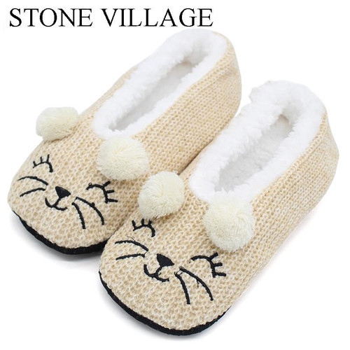 Winter Wool Cute Cartoon Indoor Shoes Woman Home Slippers Women Soft Plush Slippers Christmas Gift Women Slipper Shoes One Size - Joelinks store