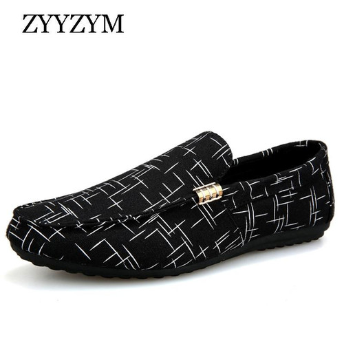 ZYYZYM Men Loafers Men Shoes Casual Shoes Spring Summer Light Canvas Youth Shoes Men Breathable Fashion Flat Footwear - Joelinks store