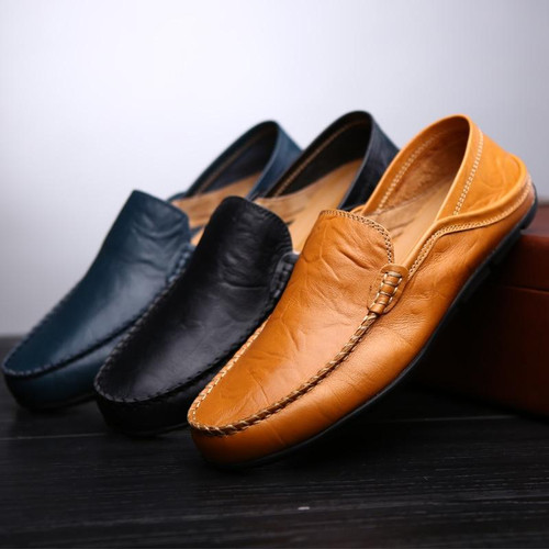 Men Shoes Genuine leather Comfortable Men Casual Shoes sport Footwear Chaussures Flats For Men Slip On Lazy Shoes Zapatos Hombre - Joelinks store