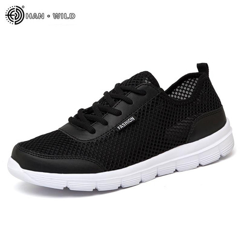 2018 Men Shoes Summer Sneakers Breathable Casual Shoes Couple Lover Fashion  Lace up Mens Mesh Flats Shoe Big Plus Size - Joelinks store