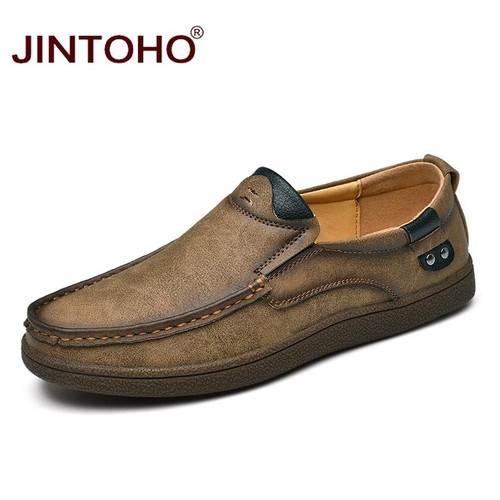 JINTOHO Fashion Brand Men Shoes Luxury Men Genuine Leather Shoes Casual Men Shoes Male Leather Shoes Slip On Men Loafers - Joelinks store