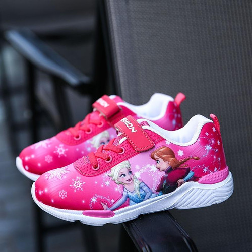 2018 Spring New Children Shoes Girls Sneakers Elsa Anna Princess Kids Shoes Fashion Casual Sport Running Leather Shoes for girls - Joelinks store