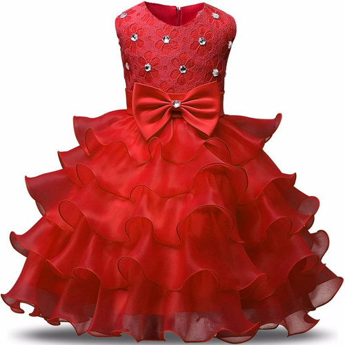 Flower Girl Dress Formal 3-8 Years Floral Baby Girls Dresses Vestidos 9 Colors Wedding Party Children Clothes Birthday Clothing - Joelinks store