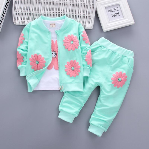 Baby Girls Clothing Set 2018 Winter Fashion Children Clothes Kids Toddler Sport Suit Cotton Tracksuit Clothes for 1 2 3 4 Years - Joelinks store