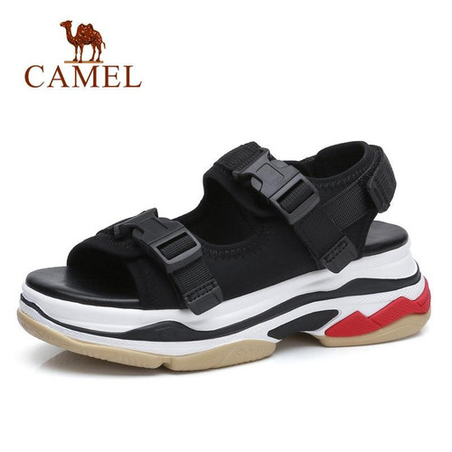 Casual Sandals High Rise Buckle Flat Wild Breathable Shoes Women 2019 Summer New Wedges Sandals Fashion Sapato Feminino - Joelinks store