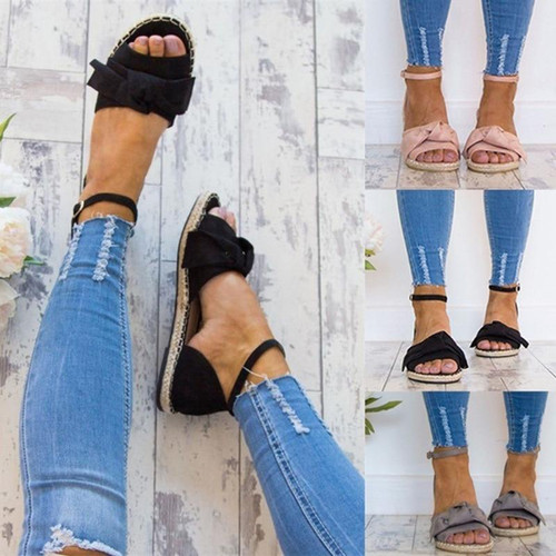 Womens Sandals Rome Flats Sandals for Summer Shoes Woman Peep Toe Casual Shoes Low Heels Sandalias Mujer Plus Size - Joelinks store