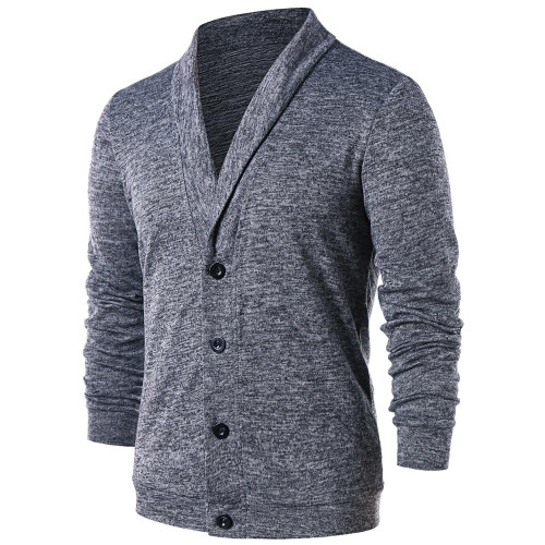 Hemiks Men Turn Down Collar Button Up Cardigan Spring Casual Knitted Sweaters Solid Male Outwear Tops Sweatercoat - Joelinks store
