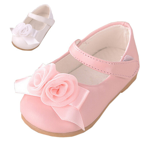 Baby Kids Shoes Cute Pink Flowers Girls Shoes Spring Children Clothing Beauty Leather Baby shoes - Joelinks store