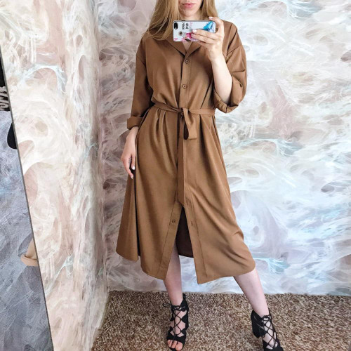 spring summer women blouses casual loose long shirts lady tops blusas fashion female batwing sleeve solid shirt dress lady - Joelinks store
