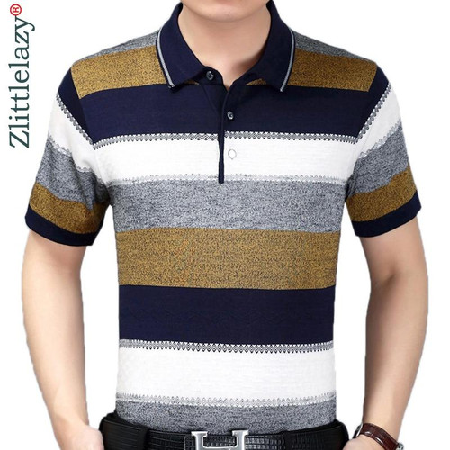 2019 summer short sleeve knitting polo shirt men clothes striped fashions polos tee shirts pol cool mens clothing poloshirt 860 - Joelinks store