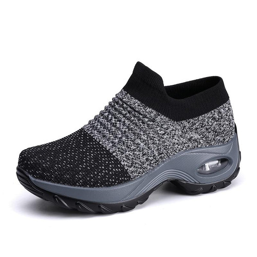 2019 Newest Fashion Breathable Lightweight Women's Sneakers Mesh Women Casual Shoes Comfortable Knitted Fitness Shoes Size 35-42 - Joelinks store